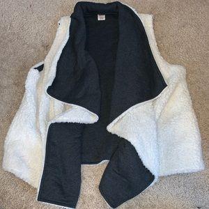 White Sherpa vest